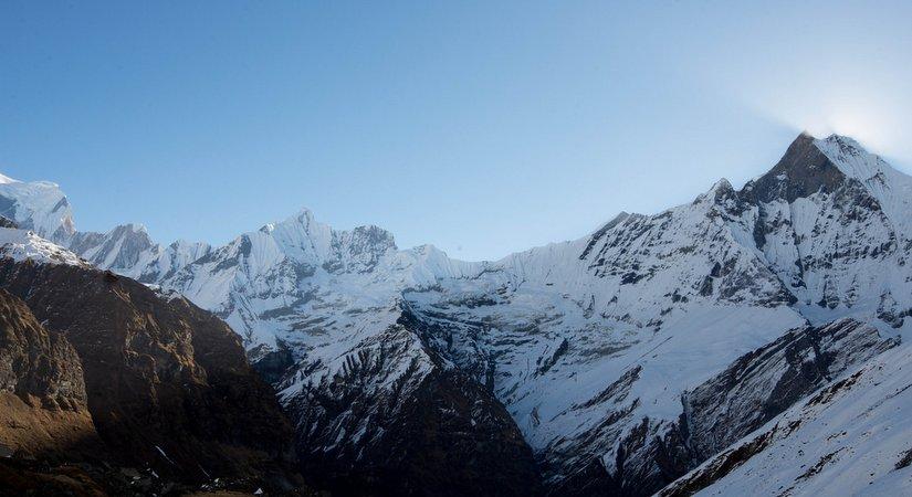 Machhapuchchhre, Annapurna III and Gangapurna