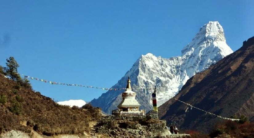 View of Mt. Amadablam from Dingboche