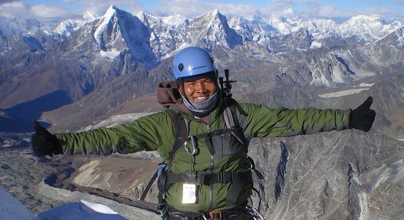 View from Mt. Baruntse Summit (7129m/23882ft)