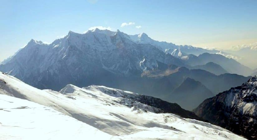 View from Dhampus Peak also known as Thapa Peak