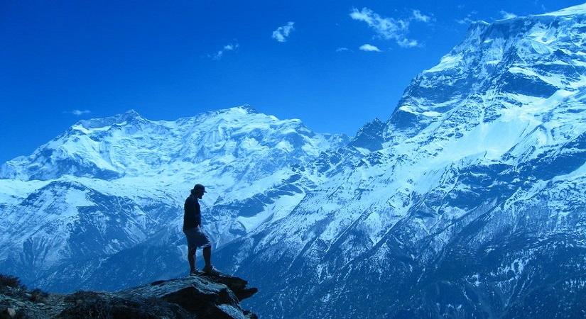 Photo of our guest- Annapurna Range in Background