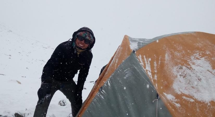 Snap at Mera Peak Base Camp