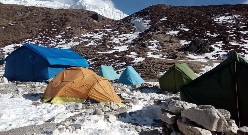 Lobuche Peak Base Camp