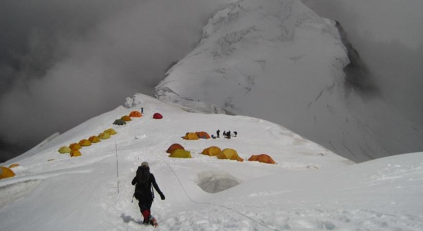 On the way back to High Camp after Successful Summit