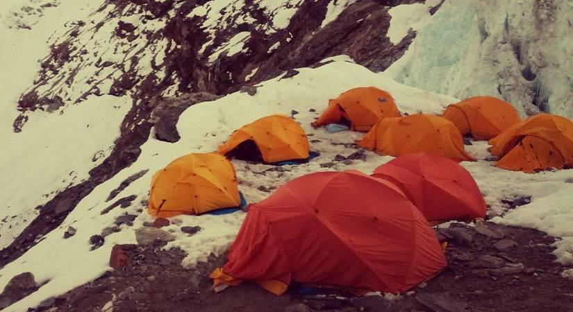 Tented Camp at Mera Peak High Camp