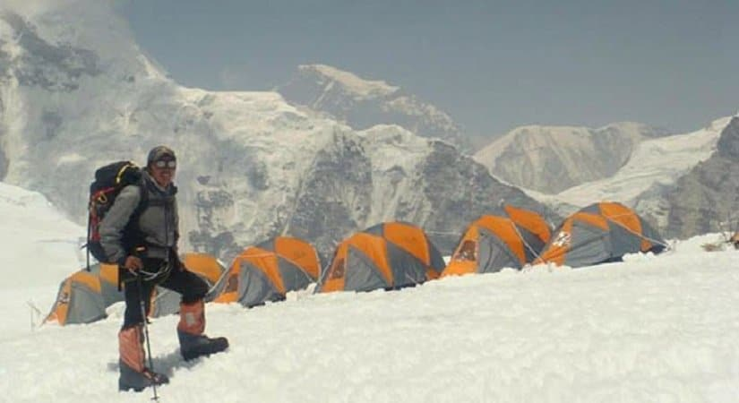 Camping bellow from Mt. Nuptse with splendid views