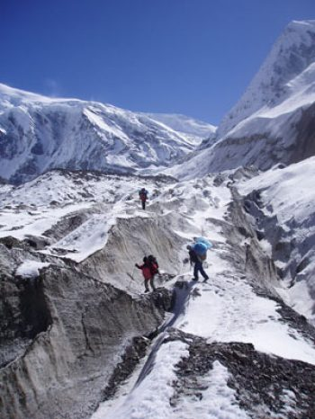 On the way to the Dhampus Peak