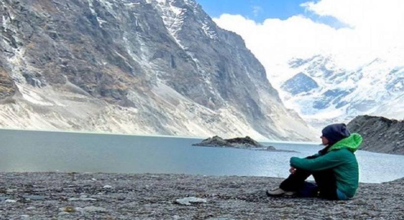 At Tsho Rolpa Lake (4,560m/14956ft)