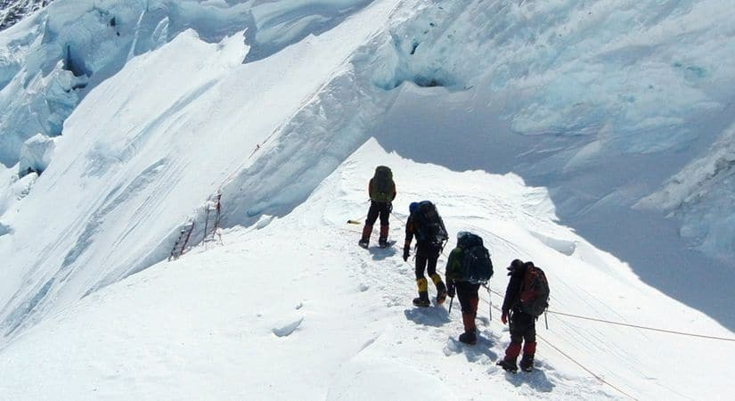 On the way to Dorje Lakpa Summit (6966m/22848ft)