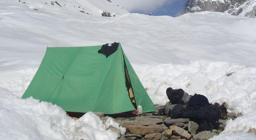 Tented Camp at Pisang Peak High Camp