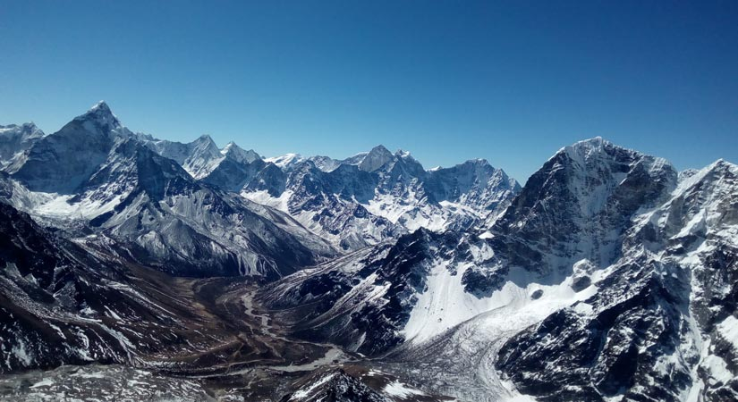 View from top of Amadablam