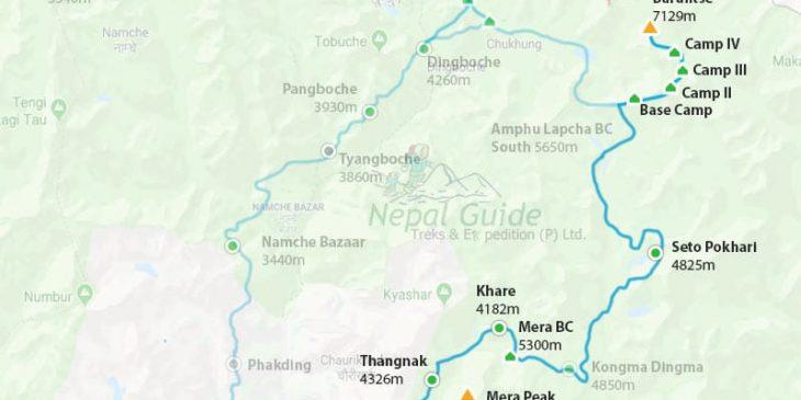 Baruntse Climbing Route