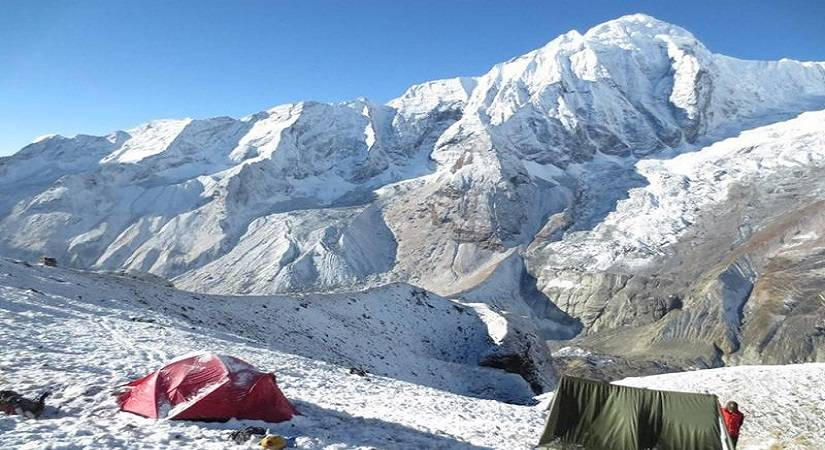 Snap taken from Tharpu Chuli Base Camp