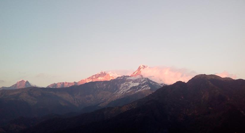 View of Annapurna from Ghorepani (2855m/9364ft)