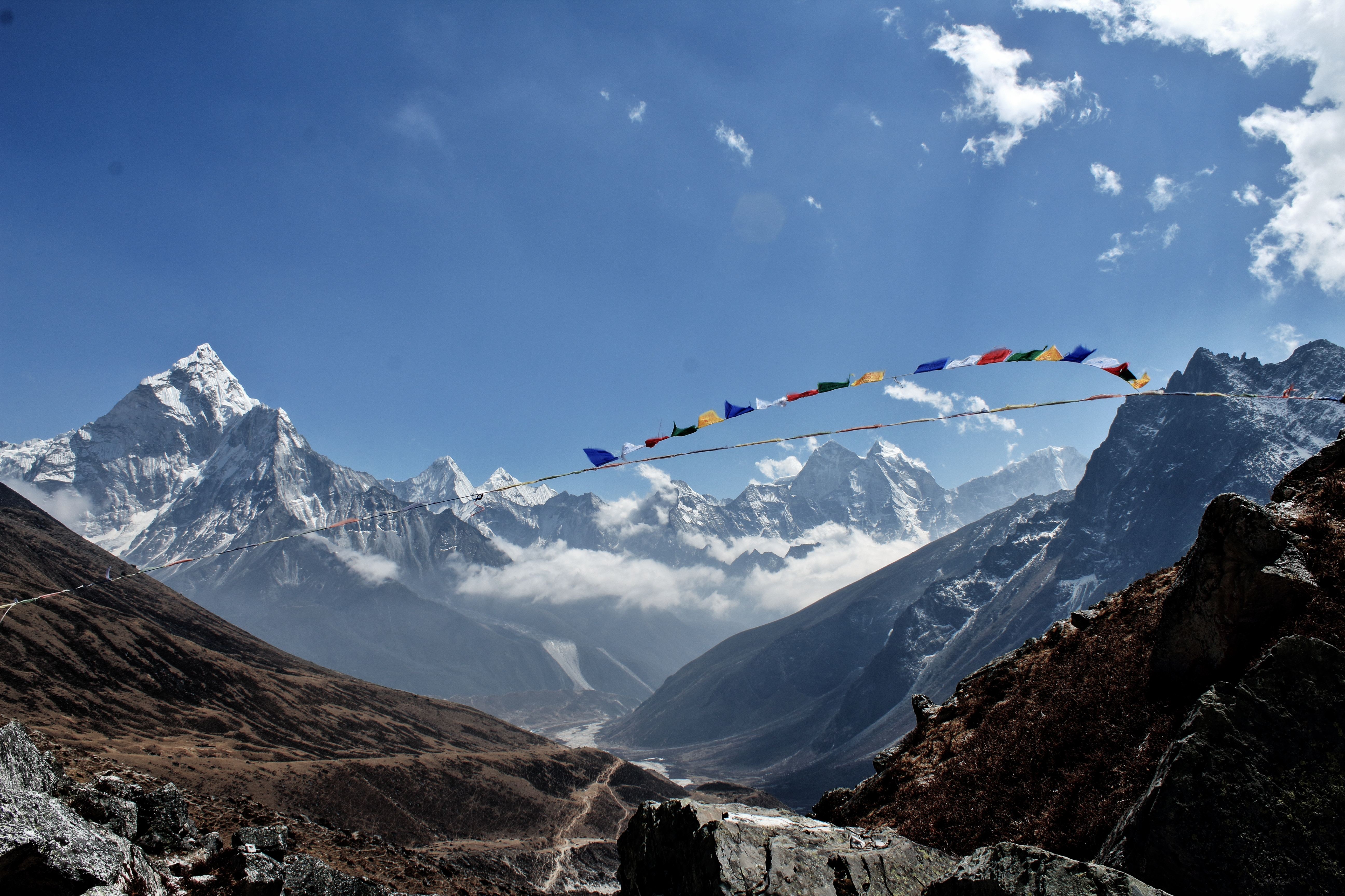 Mountain on the way to Everest