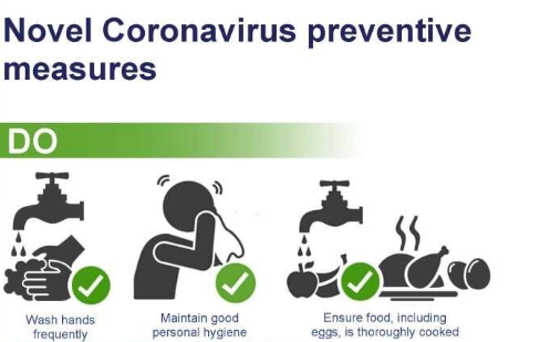 Preventive Measures from Corona Virus