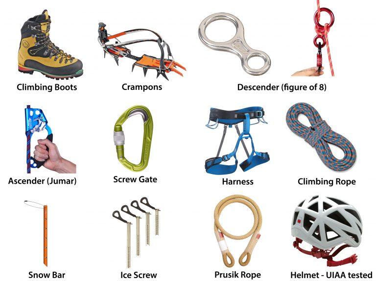 Ama Dablam Equipment List