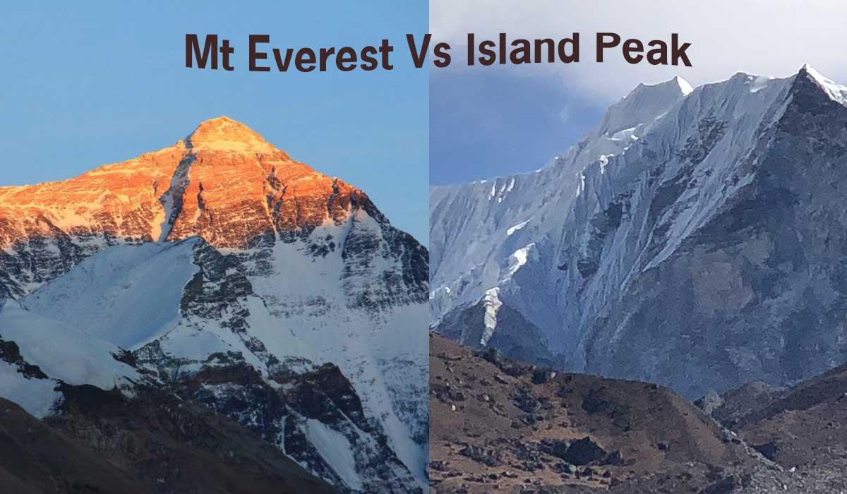 Island Peak vs Everest