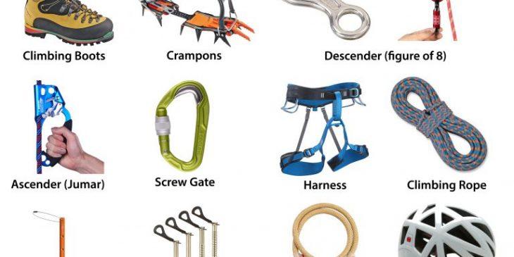 Mountain Climbing Equipment List