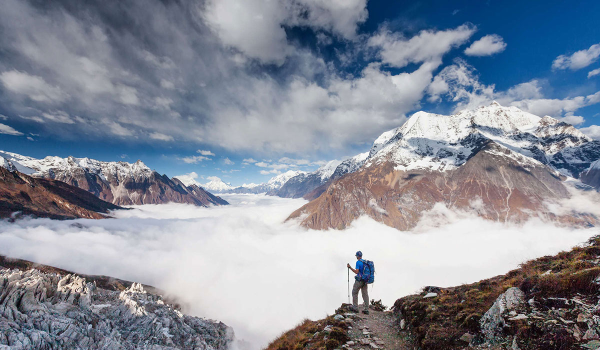 manaslu climbing route
